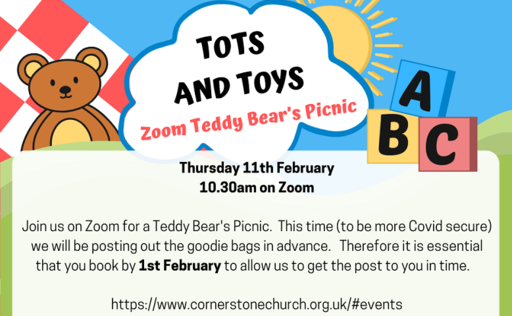 Tots and Toys Teddy Bears Picnic on Zoom