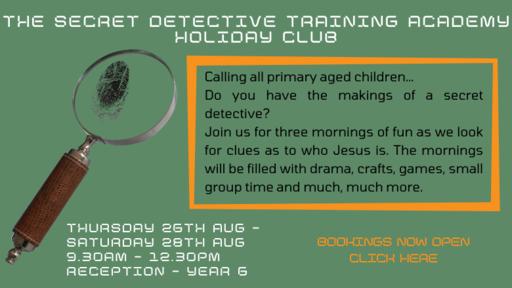 The secret detective training academy holiday club
